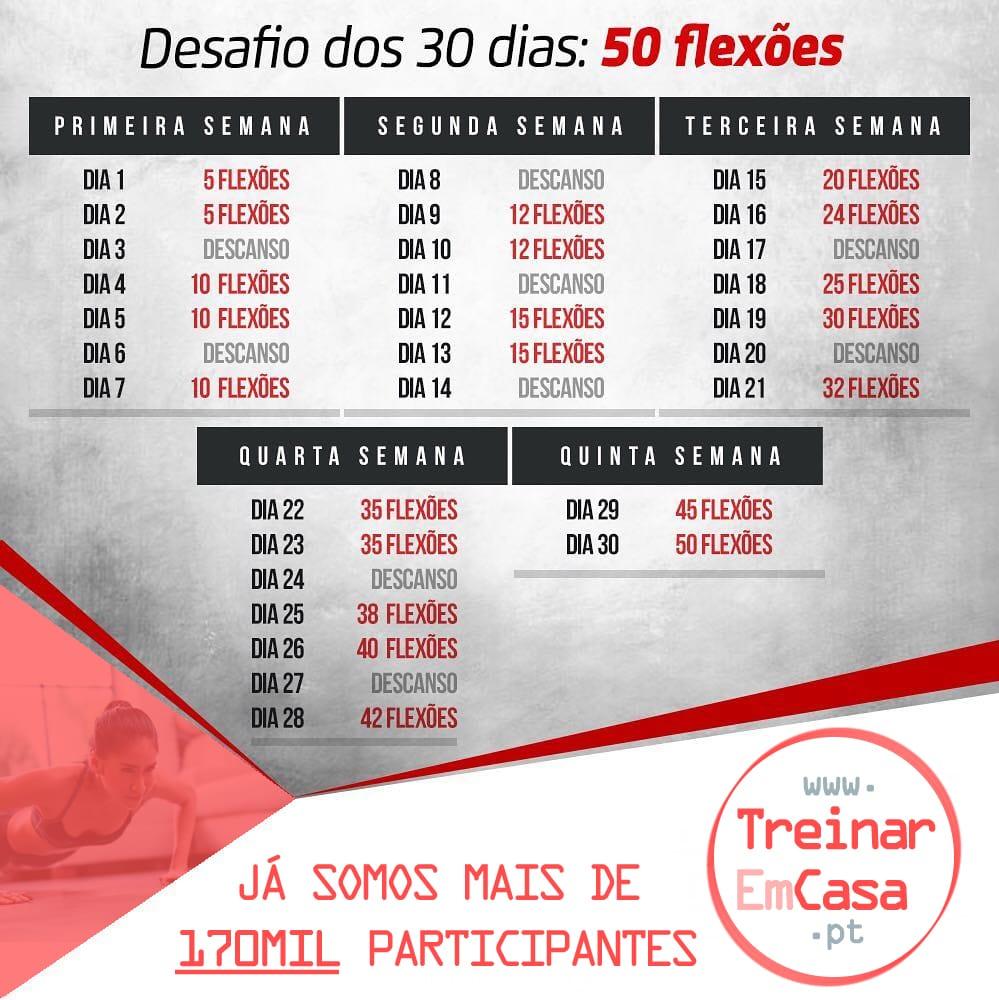 Desafio 30 dias flexões