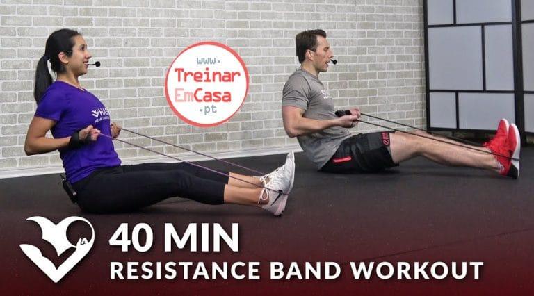 treino com elasticos